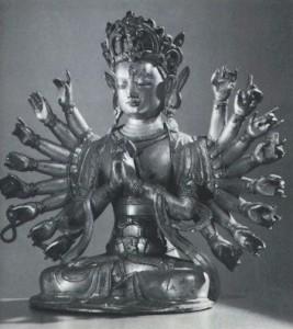 De bodhisattva Avalokitesvara luistert naar het geweeklaag van de wereld en maakt correcties
